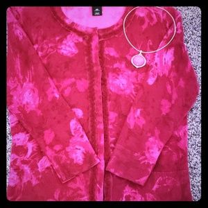 Rose Ruffle Front Cardigan